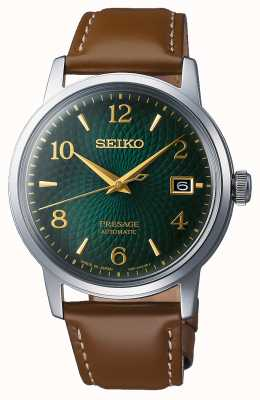 Seiko Presage | automatico | quadrante verde | mojito | data | d'oro SRPE45J1