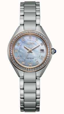 Citizen Orologio da donna con quadrante in acciaio inossidabile, cristallo e madreperla EW2556-59Y