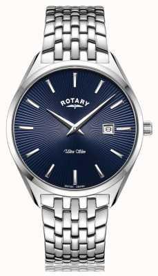Rotary Orologio ultra sottile con quadrante blu argento GB08010/05
