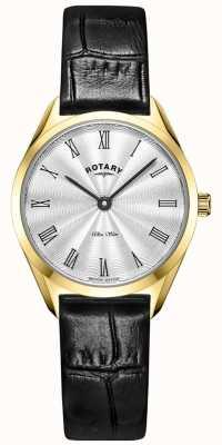 Rotary Orologio da donna ultra sottile in pelle color oro LS08013/01