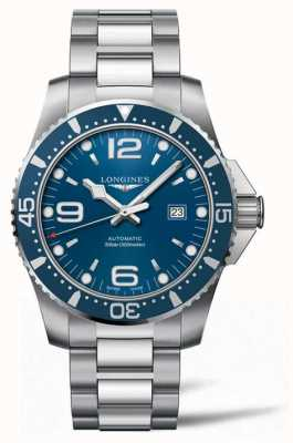 Longines Hydroconquest 44mm automatico subacqueo quadrante blu L38414966