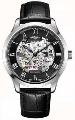 Rotary Mens | scheletro | greenwich | orologio automatico GS02940/30