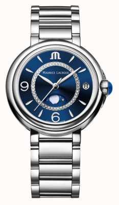 Maurice Lacroix Fiaba fasi lunari da donna al quarzo con diamanti in acciaio inossidabile FA1084-SS002-420-1