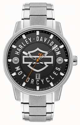 Harley Davidson Uomini per lui! | bracciale in acciaio inossidabile | quadrante nero 76B182