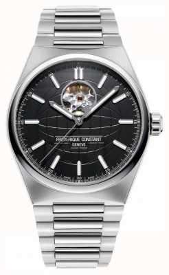 Frederique Constant Highlife heartbeat auto | bracciale in acciaio | quadrante nero FC-310B4NH6B