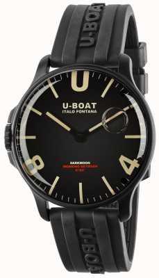 U-Boat Darkmoon 44mm nero ipb | cinturino in caucciù 8464-BLACK