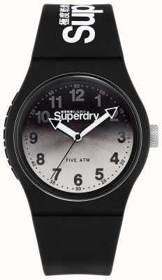 Superdry Urban lazer | cinturino in silicone nero | quadrante nero e grigio SYG198EB