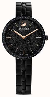Swarovski Cosmopolitan | bracciale placcato pvd nero | quadrante glitter nero 5547646