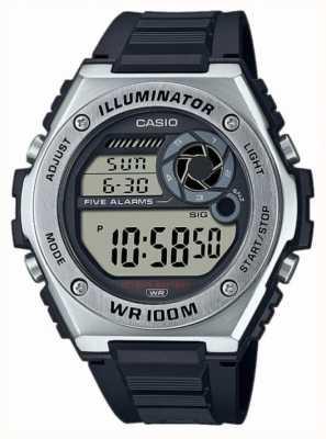 Casio Illuminatore | cinturino in silicone nero MWD-100H-1AVEF