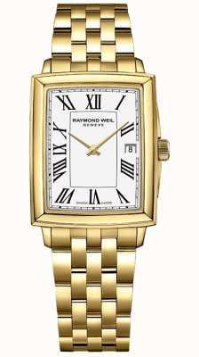 Raymond Weil Toccata femminile | bracciale pvd oro giallo | quadrante bianco | 5925-P-00300
