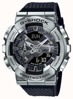Casio G-shock | cinturino in resina testurizzata | quadrante argento | tempo del mondo GM-110-1AER