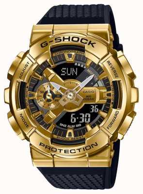 Casio G-shock | cinturino in resina testurizzata | cassa metallica dorata | GM-110G-1A9ER