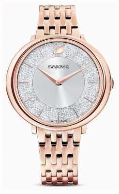 Swarovski Cristallino | bracciale in acciaio placcato oro rosa | quadrante glitterato 5544590