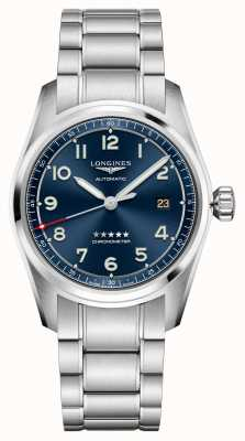 Longines Spirit automatico quadrante blu in acciaio inossidabile 40 mm L38104936