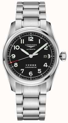 Longines Spirit 42mm edizione prestige quadrante nero in acciaio inossidabile L38114539