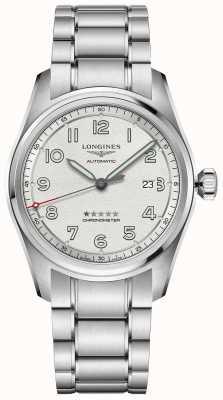 Longines Spirit prestige edition 42mm quadrante argento in acciaio inossidabile L38114739