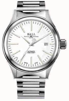 Ball Watch Company Impresa vigile del fuoco | bracciale in acciaio inossidabile | quadrante bianco NM2188C-S20J-WH