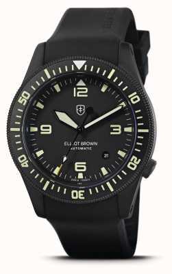 Elliot Brown Holton automatico | cinturino in caucciù nero | quadrante nero | 101-A10-R06