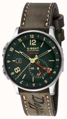 U-Boat Quadrante verde doppiotempo doppio fuso del 1938 8500