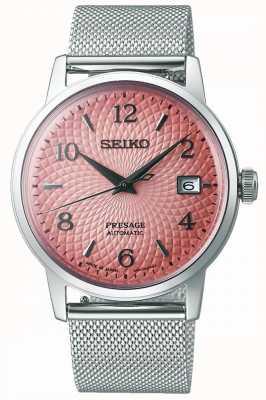 Seiko Presage in edizione limitata | bracciale in maglia d'acciaio | quadrante rosa SRPE47J1