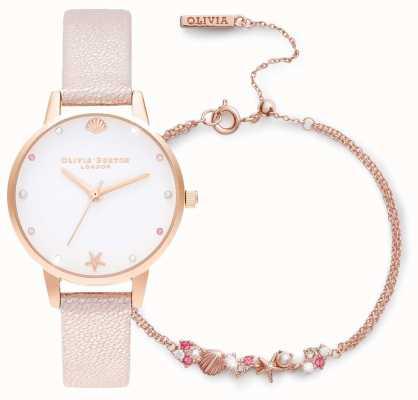 Olivia Burton In fondo al mare | set regalo con orologio e bracciale | rosa OBGSET141