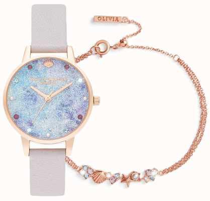 Olivia Burton In fondo al mare | set regalo con orologio e bracciale | lilla OBGSET142