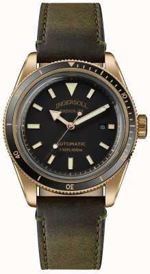 Ingersoll Lo scovill | carica orologi | cinturino verde oliva quadrante nero I05007