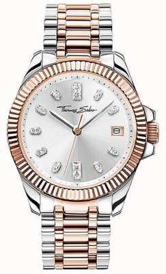 Thomas Sabo | delle donne | divino | bracciale in acciaio bicolore | quadrante argento | WA0371-277-201-33