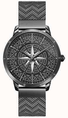 Thomas Sabo | uomo | spirito | braccialetto di maglia nera | Compasso 3-d | WA0374-202-203-42