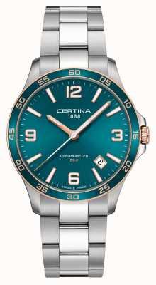 Certina Ds-8 | bracciale in acciaio inossidabile | quadrante verde | quarzo C0338512109700