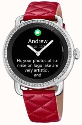 Festina Smartime | cinturino in pelle rossa | schermo a colori | cinturino aggiuntivo in pelle nera F50000/3