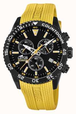 Lotus Cinturino da uomo in silicone giallo | quadrante cronografo nero L18672/4