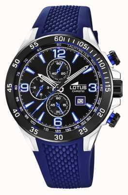 Lotus Cinturino da uomo in silicone blu | quadrante cronografo nero L18673/8