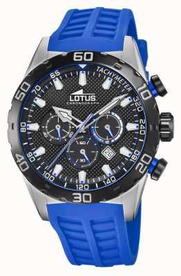 Lotus Colore | cinturino in silicone blu da uomo | quadrante cronografo nero L18677/4