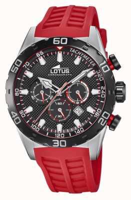 Lotus Colore | cinturino in silicone rosso da uomo | quadrante cronografo nero L18677/6