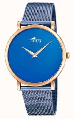 Lotus Bracciale donna in maglia d'acciaio blu | quadrante blu | cassa in oro rosa L18773/2