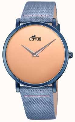 Lotus Cinturino da uomo in pelle blu | quadrante in oro rosa L18781/1