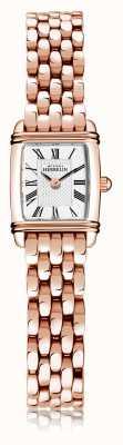 Michel Herbelin Art déco | bracciale da donna in acciaio placcato oro rosa | quadrante bianco | numero romano | 17438/PR08B