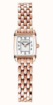 Michel Herbelin Art déco | bracciale da donna placcato oro rosa | quadrante bianco 17438/PR22B