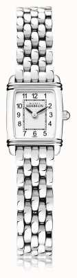 Michel Herbelin Art déco | bracciale da donna in acciaio inossidabile | quadrante bianco | 17438/22B