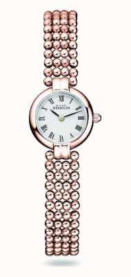 Michel Herbelin Perles | bracciale da donna in acciaio placcato oro rosa | quadrante bianco 17433/BPR08