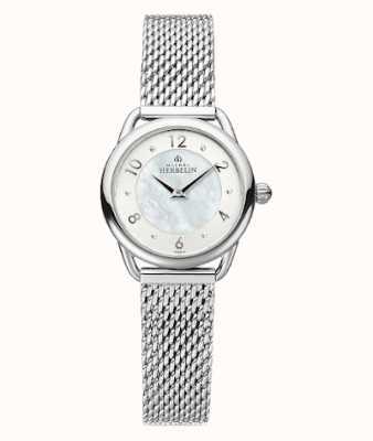 Michel Herbelin Equinoxe | bracciale in maglia d'acciaio da donna | quadrante in madreperla 17497/29B