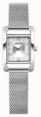 Michel Herbelin Vth avenue | bracciale in maglia d'acciaio | quadrante rettangolo argento 17437/21B