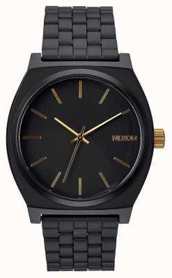 Nixon Time teller | nero opaco / oro | bracciale in acciaio ip nero | quadrante nero A045-1041-00