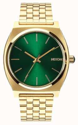 Nixon Cassiere del tempo | raggio di sole oro / verde | bracciale in acciaio ip oro | quadrante verde A045-1919-00