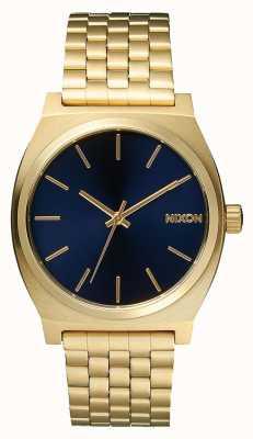 Nixon Time teller | tutto oro chiaro / cobalto | braccialetto ip oro | quadrante blu A045-1931-00