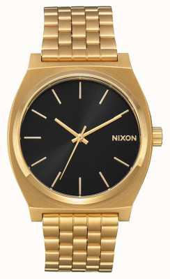 Nixon Cassiere del tempo | tutto oro / raggio di sole nero | braccialetto ip oro | quadrante nero A045-2042-00