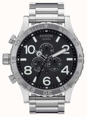 Nixon 51-30 crono | nero | bracciale in acciaio inossidabile | quadrante nero A083-000-00