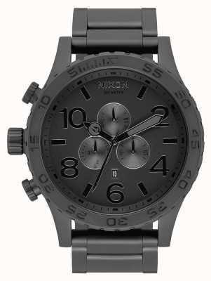 Nixon 51-30 crono | tutto nero opaco / nero | braccialetto ip nero | quadrante nero A083-3086-00