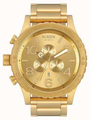 Nixon 51-30 crono | tutto oro | braccialetto ip oro | quadrante in oro A083-502-00